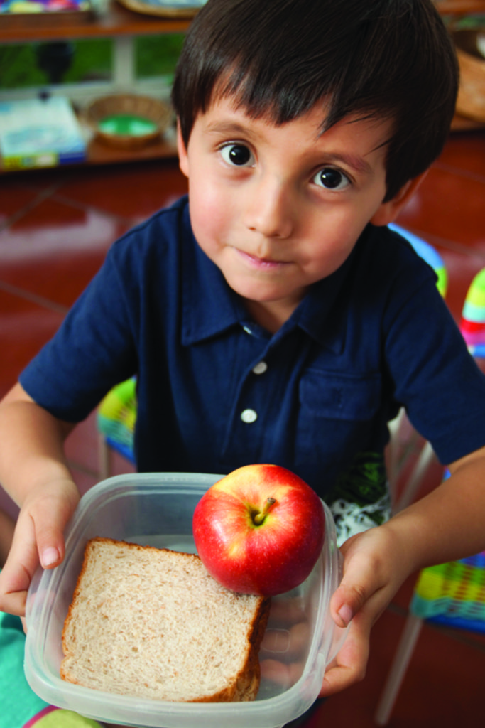 End Hunger in Colorado - Boy with food