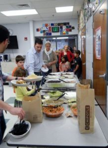 Attendees enjoyed their meal.