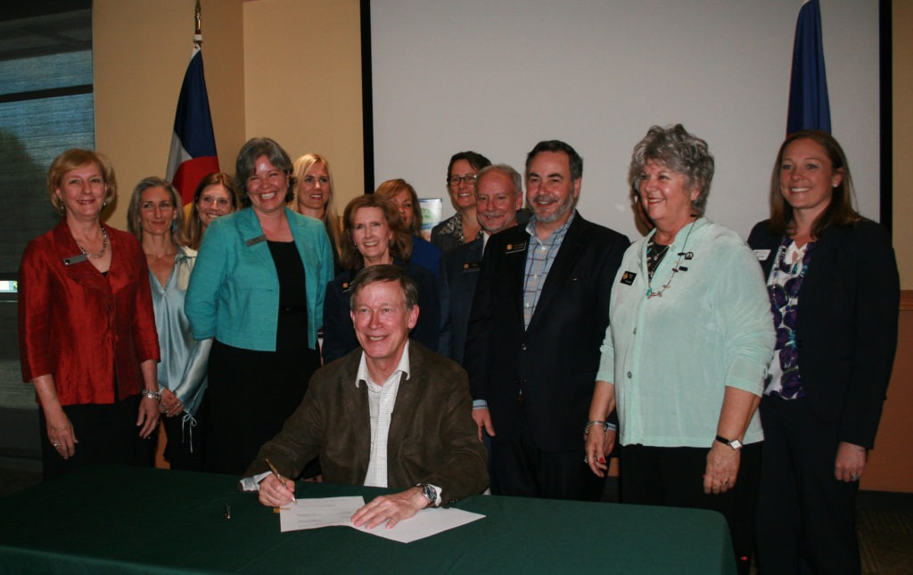SB-190 Bill Signing - Gov Hickenlooper